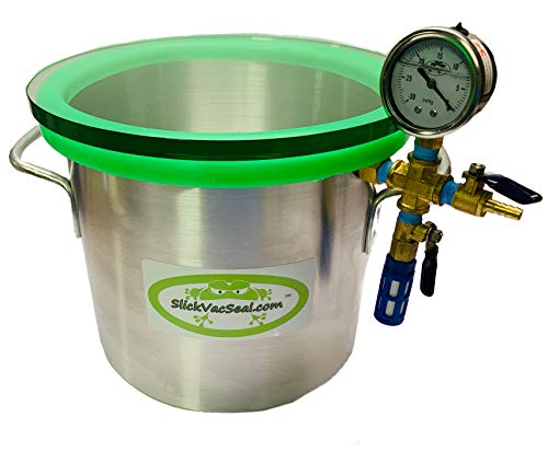 """"""" Built in The USA"""" -3 Gallon SlickVacSeal Aluminum Vacuum Chamber Used for Stabilizing Wood, Degassing Resins, Silicone and Epoxies."""