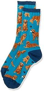 Socksmith Golden Retrievers Socks Blue Size 9-11, 1 EA