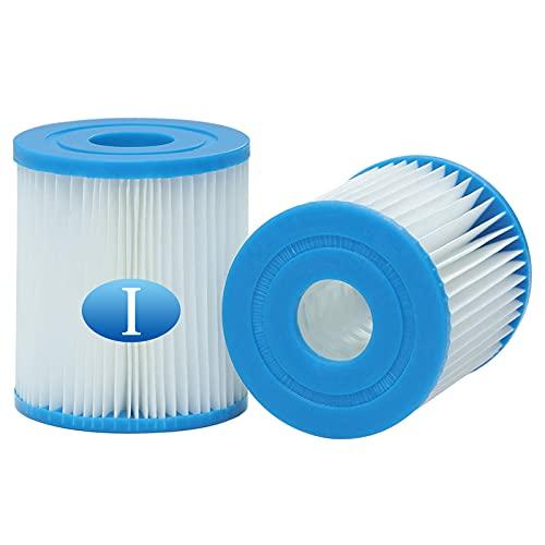 woejgo Cartuccia Filtro per Bestway Tipo 1 filtri a Cartuccia per Piscine Taglia I Cartuccia del Filtro della Vasca idromassaggio Filtro Spa (2 Pezzi)