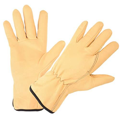 Rostaing TRADITION-IT09 Gants de Jardinage 100% Cuir Tanné En France Hydrofuge Grande Longueur Tradition Taille 09 Handschuhe, beige, 9