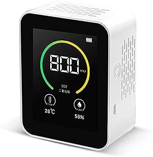 TOPQSC CO2-meetinstrument, luchtkwaliteitdetector, meetbereik 400 – 5000 PPM, kleurendisplay, weergave van een groot aanta...