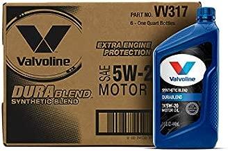 Valvoline DuraBlend SAE 5W-20 Synthetic Blend Motor Oil 1 QT, Case of 6