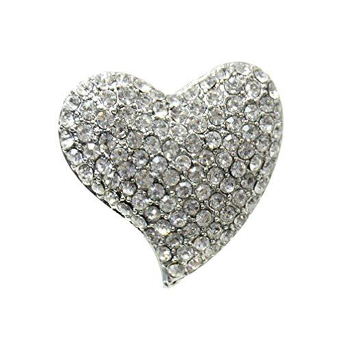 Holibanna Broche de Corazón Ramillete Decorativo Regalo de Adorno para La Decoración de La Boda Broche Mujer Señora