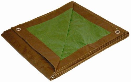 16x20 Multi-Purpose Brown/Green Medium Duty DRY TOP Poly Tarp (16'x20')