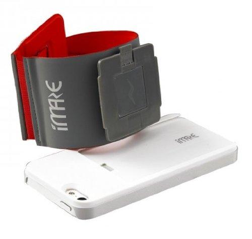 iMaze SBAND-SCASE/001-REDL Mod+ Run Sport Armband voor Apple iPhone 4/4S/5 Maat L grijs/rood