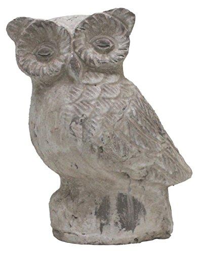 Figurine Chouette Athéna Statue de jardin Shabby Vintage Décoration Animaux Sculpture Appartement Jardin