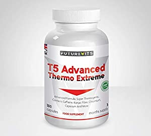 T5 Fat Burner Advanced Thermogenic Extreme Weight Loss Supplement Fat Burners for Men and Women Made UK Futurevits 3 Month Supply.