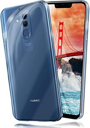 moex Aero Hülle kompatibel mit Huawei Mate 20 Lite - Hülle aus Silikon, komplett transparent, Klarsicht Handy Schutzhülle Ultra dünn, Handyhülle durchsichtig einfarbig, Klar