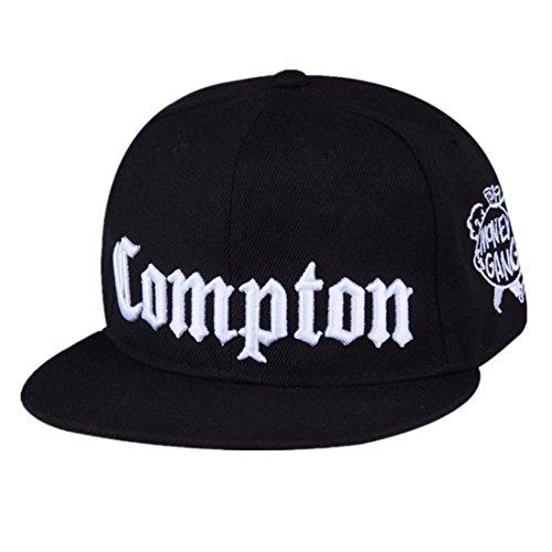 Moda Moda Personalidad Compton Snapback Juventud Hip-Hop Plano Brimmed Hombres Marea Hip-Hop Hip-Hop Entrenamiento Gorra de béisbol Femenino Sombrero