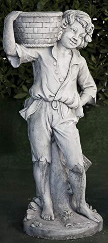 Estatua clásica de Hormigón Campesino 40x110cm. - Peso: 105Kg. - Figura, Escultura Romana Estilo jardín Ingles. - Hecho en España.