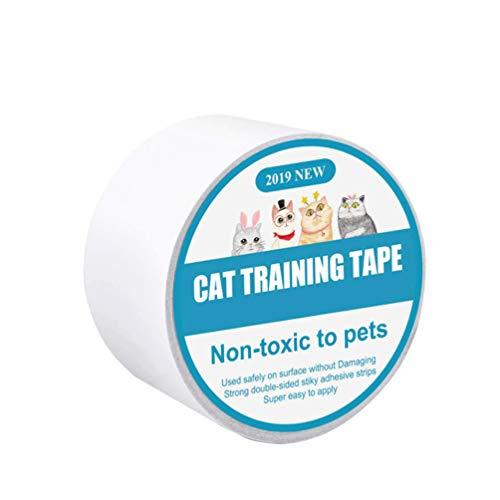 POPETPOP Cinta Adhesiva para Gatos Muebles Adiestramiento para Gatos Adhesivo Rascador de Doble Cara Cinta Protectora contra Arañazos para Mascotas para La Mesa del Sofá Casero (10 M)