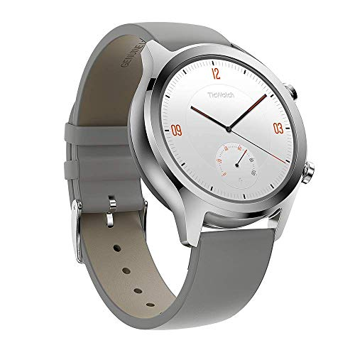 Ticwatch Mobvoi C2, Wear OS von Google Classic Smartwatch, IP68 Sweat und Wasserdicht, Google Pay, Kompatibel mit iPhone und Android