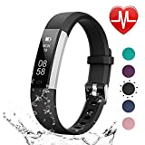 LETSCOM Unisex Adult Fitness Tracker HR, Heart Rate Monitor Watch with Sleep Monitor Step Counter Pedometer, Waterproof Smart Fitness Watch, Activity Tracker for Kids Women and Men