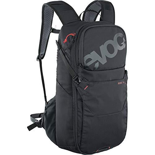 EVOC RIDE 16 Fahrradrucksack Bike-Rucksack für Outdoor-Aktivitäten oder den Alltagseinsatz (cleveres Taschenmanagement, belüftet durch AIR-PAD-Rückenpolsterung und Trinkblasenfach), Schwarz