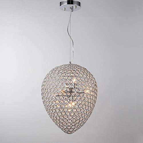 Moderne RVS Ovaal Led Kroonluchter Led Lampen Eetkamer Crystal Kroonluchter Led Lustre Licht Hanger Droplight