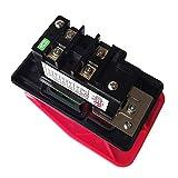 Interruptores industriales con tapa de parada de emergencia para sierra de banco KEDU HY56 rojo (220 Vol)