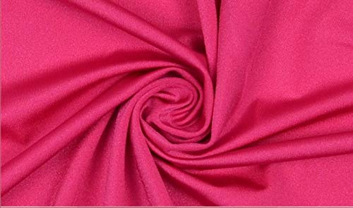 Stoffbook E058 - Tela de lycra elástica (20 % elastano), color rosa oscuro