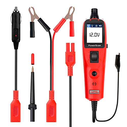 Autel PS100 Automotive Tester 12V/24V Electrical System Diagnosis Tool PowerScan PS100 Auto Circuit Battery Tester Diagnose DC Voltage AC Voltage