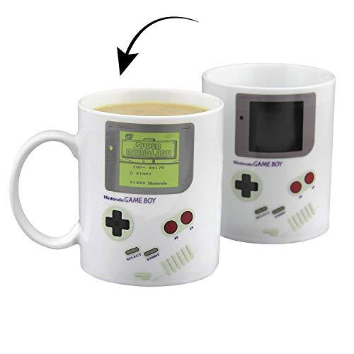 Paladone Nintendo Gameboy Thermoeffekttasse Gameboy, Kaffeebecher aus Porzellan