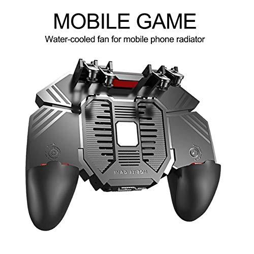 Teléfono Móvil PUBG Controlador Ayudante del Radiador Seis Dedos Vinculación Juego De Botón De Disparo Rápida Compresión Física De La Manija del Ventilador del Radiador