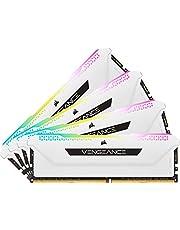 Corsair DDR4-3200MHz デスクトップPC用 メモリ VENGANCE RGB PRO SLシリーズ 32GB [8GB×4枚] CMH32GX4M4E3200C16W