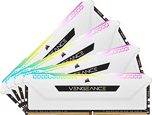 Corsair Vengeance RGB Pro SL 32 Go (4x8 Go) DDR4 3200 (PC4-25600) C16 1.35V - Blanche