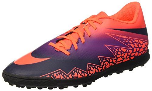 Nike 749891-845, Scarpe da Calcetto Uomo, Multicolore (Total Crimson/Obsidian/Vivid Purple), 40.5 EU