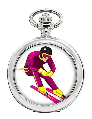 Downhill Skifahrer Full Hunter Taschenuhr