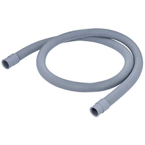 Kenekos - Ablaufschlauch/Verlängerung kompatibel mit Waschmaschine oder Spülmaschine - 1 Meter. Flexibler Abwasserschlauch, Durchmesser der Enden 19mm und 21mm. Zwei gerade Anschlüsse