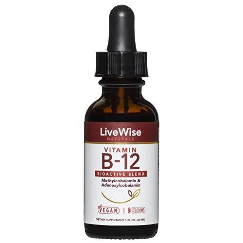 Liquid B12 Vitamin Sublingual – All-Natural Liquid Vitamin Vegan B12...