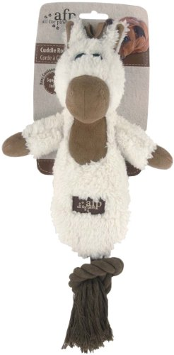 ALL FOR PAWS Cuddle Rope mit Lammfell - Hundespielzeug - Pferd
