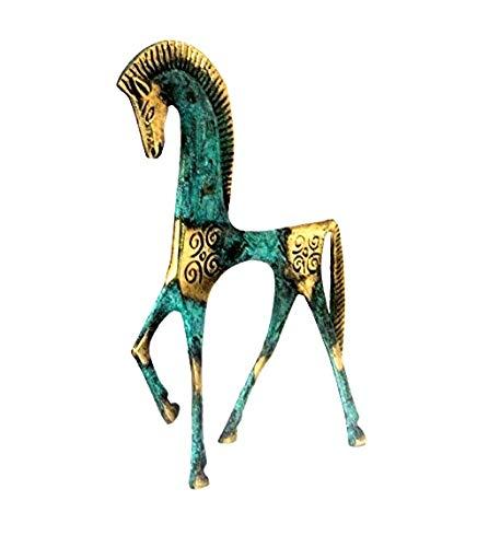 IconsGr Estatua del Museo de Bronce Griego Antiguo Réplica de Caballo de la Era Geométrica (122)
