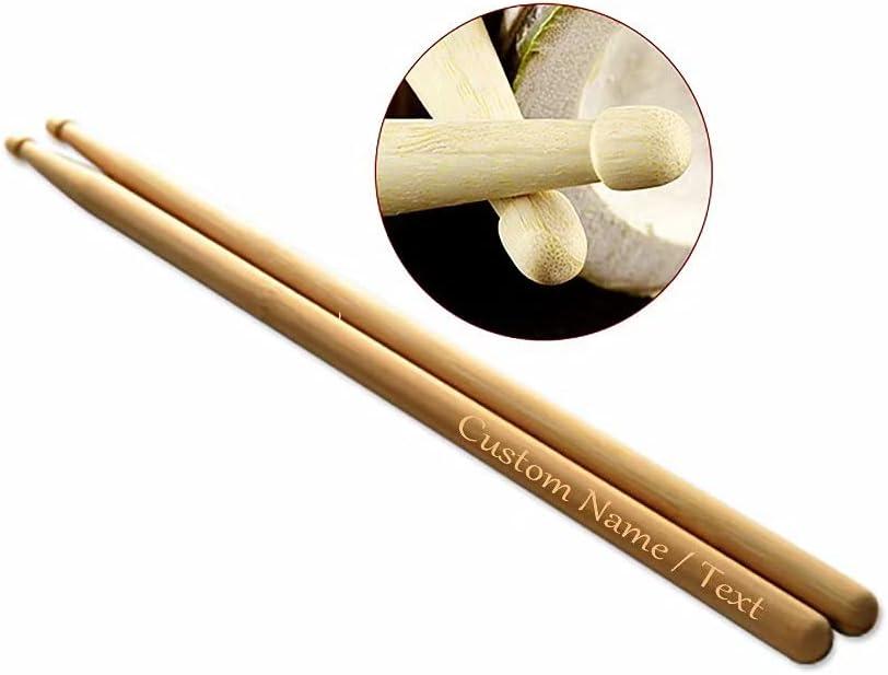 Baquetas Personalizadas Baquetas de Madera grabadas Par de Baquetas Personalizadas para Banda de música Baterista de Jazz Bandas de Rock Juvenil Música Profesional Accesorios para batería