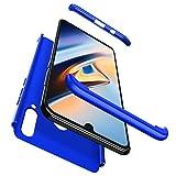 BIKANA Coque Compatible avec Huawei P30 Lite/Nova 4E Housse Bleu Etui,[2*Écran en Verre Trempé] PC...