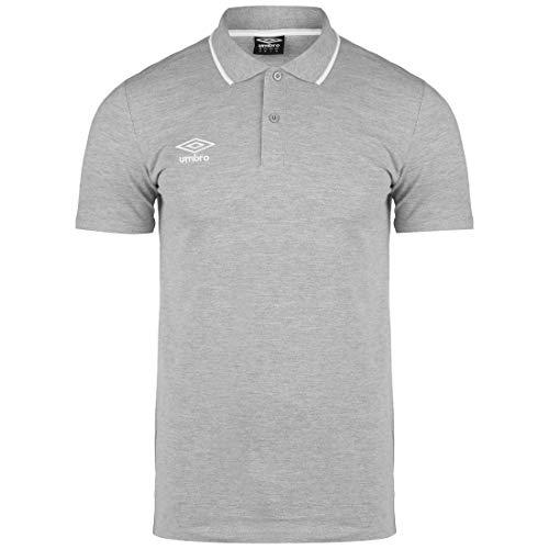 UMBRO FW Pique Poloshirt Herren grau/weiß, XL