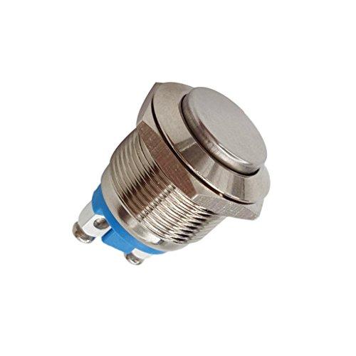 Milageto Interruptor Pulsador Momentáneo IP67 Níquel de 19 Mm