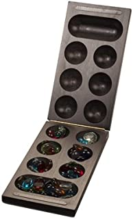 WE Games Foldable Wood Mancala Board Game- Dark Stain