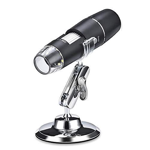 KEKEYANG 1000X WiFi Digital Lupa del microscopio Inspección Cámara USB 8 LED con Soporte for Android iOS portátil Microscopio Electrónico Lupa (Color : WiFi)