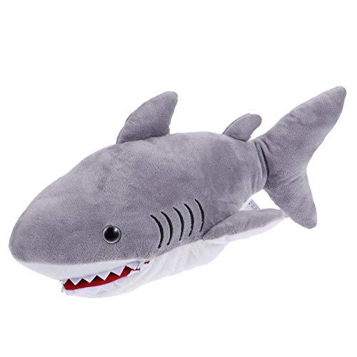 NUOBESTY Marioneta de Mano de Tiburón Marioneta de Tiburón de Peluche Suave Lindo Animales Marinos Juguete Peludo Interactivo Juguetes Preescolares para Tiburón Juego de rol Muñeca