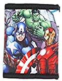 DisneyBagStore Marvel Avengers Super Hero Stuff Comics Trifold Wallet for Boys Children Kids, Black, X-Small