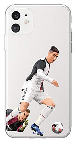 MYCASEFC - Cover calcio personalizzabile CR7 Huawei P9 Lite Mini in silicone Custodia da calcio per smartphone personalizzata e realizzata in Francia in TPU