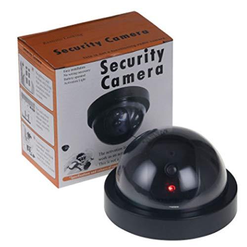 Tree-es-Life Cámara de Seguridad Falsa Falsa inalámbrica Vigilancia del hogar CCTV Domo Cámara de simulación de hemisferio Falso para Interiores y Exteriores Negro