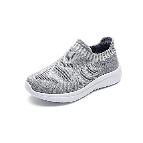 Aerlan Trainer Wanderschuhe,Zapatillas de Deporte Transpirables Zapatos de Mujer Zapatos de Senderismo-Gris_38,Zapatillas Deportivas Zapatos para Correr