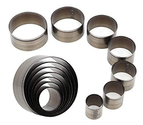 e-smile レザー 型抜き 円型 丸 丸型 クラフトパンチ 高速度鋼 7サイズ 7個セット