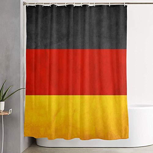 Duschvorhang Dekor Deutschland Flagge Home Decor Duschvorhang, zeitgenössische Badezimmer Vorhang, Leicht zu pflegene Stoff Duschvorhänge