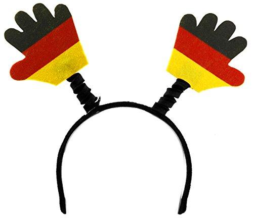 Diverse 1 x Haarreifen Deutschland winkende Hände Winkehand Fanartikel Schmuck WM EM