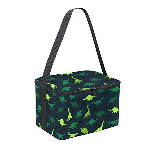 YuuHeeER 1 bolsa de almuerzo reutilizable con aislamiento térmico para picnic, escuela, color verde