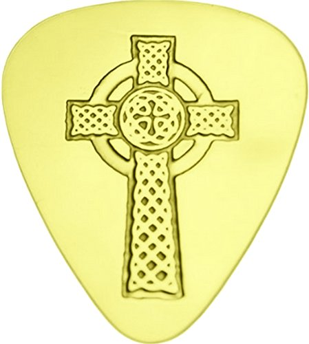 Celtic Cross - Solid Brass Guitar Pick