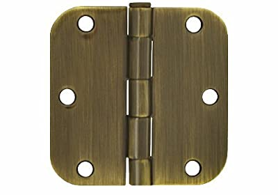 """15 PCS Antique Brass 3.5"""" X 3.5"""" in 5/8 Radius Round Corner Interior Door Hinges"""