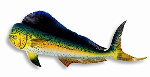 Handpainted Jumbo Green Dolphin Mahi Mahi Wall Mount Decor Plaque Saltwater Game Fish Replica 48